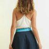 mode durable femme jupe soie et coton bleue