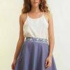 mode durable femme jupe soie et coton mauve