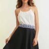 mode durable femme jupe soie et coton noir