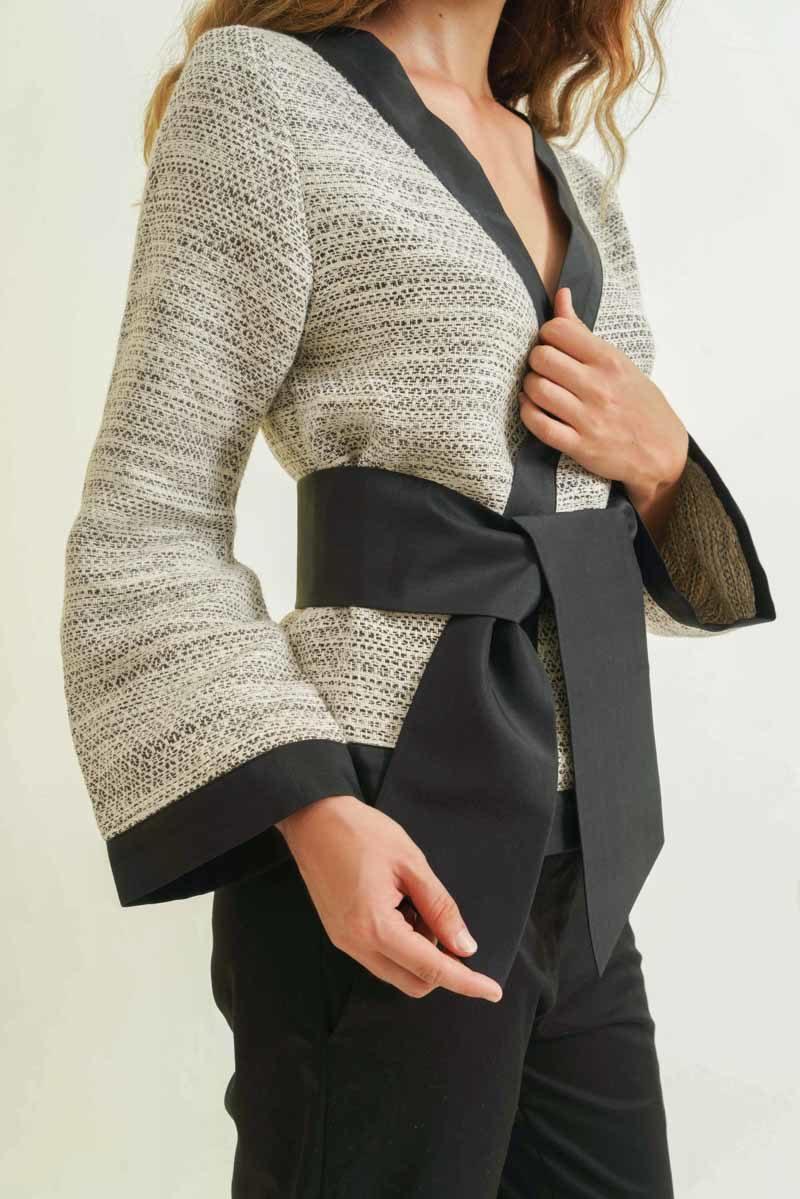 mode ethnique femme kimono soie et coton tissé main