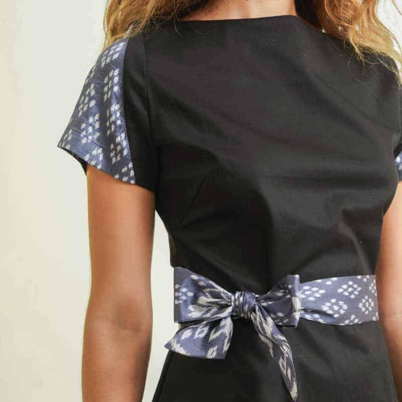 mode responsable femme robe soie et coton noir