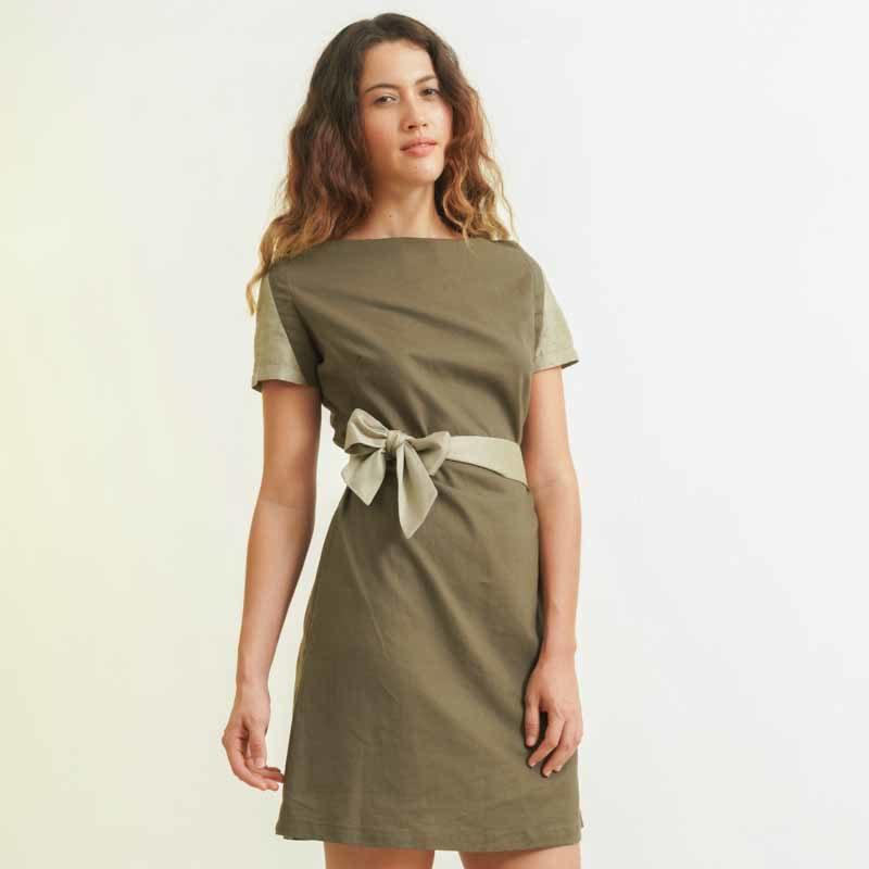 mode responsable femme robe soie et lin