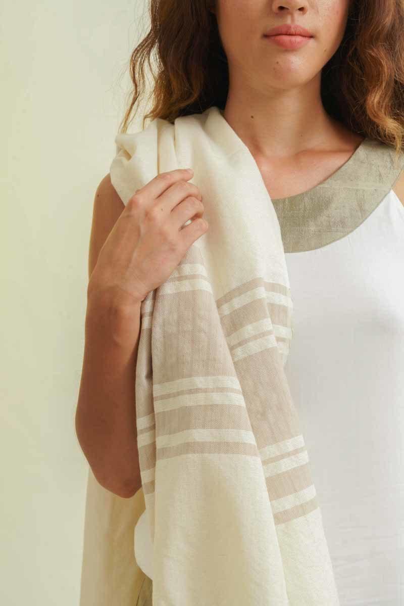 foutah équitable coton naturel beige