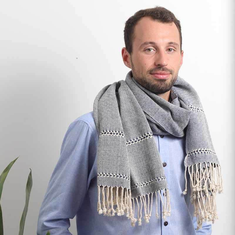 mode ethique echarpe mixte coton bio teinture naturelle