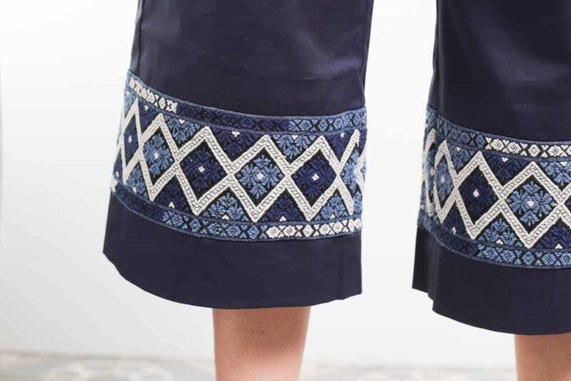 commerce équitable mode femme pantacourt coton bio artisanal teinture naturelle