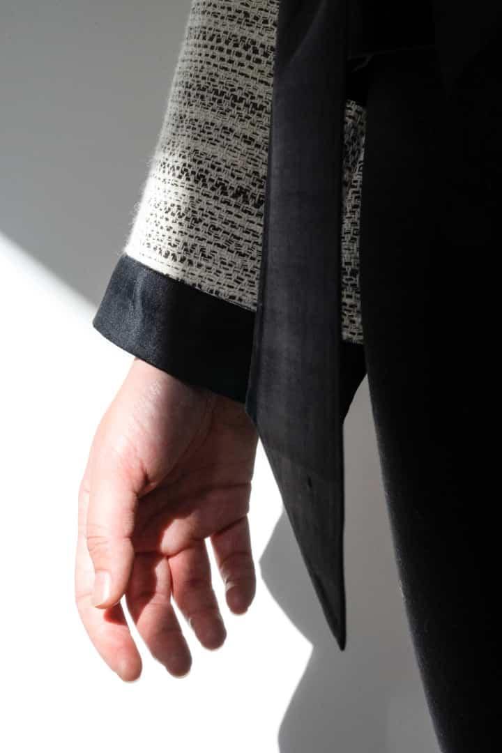 Kimono femme soie et coton détail