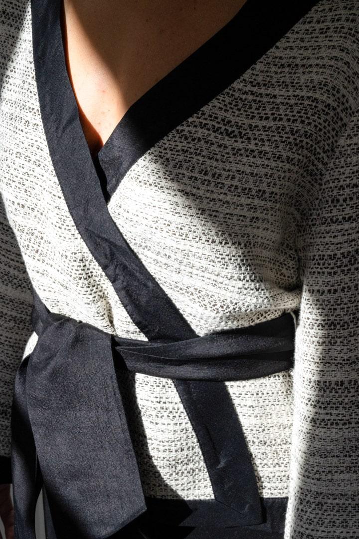 Kimono femme soie et coton