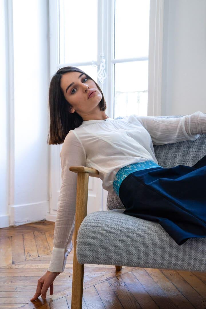 Jupe femme soie et coton mode éthique