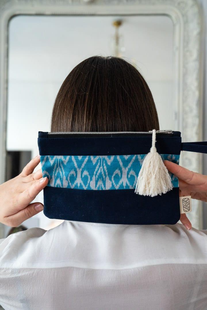 Pochette femme soie et coton éco-responsable