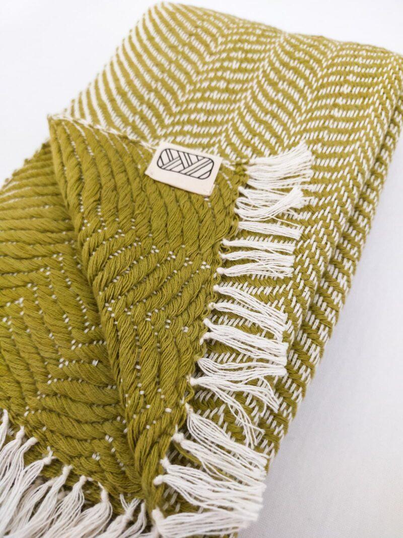 Echarpe équitable en coton vert