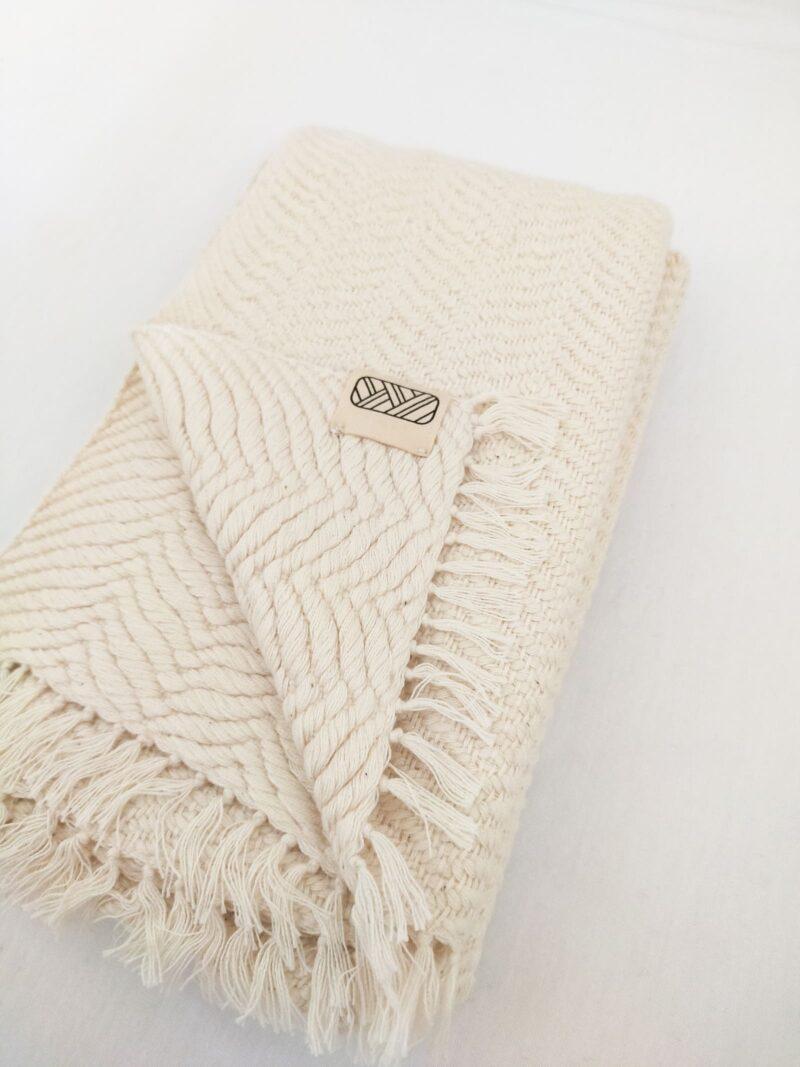 Echarpe équitable en coton blanc