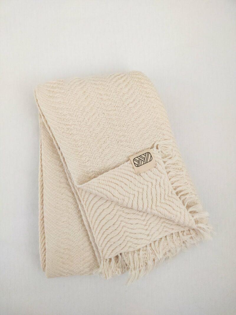 Echarpe équitable en coton banc