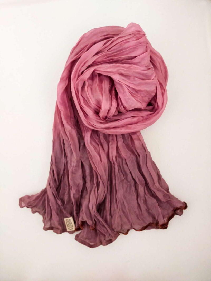 Foulard en soie organza rose