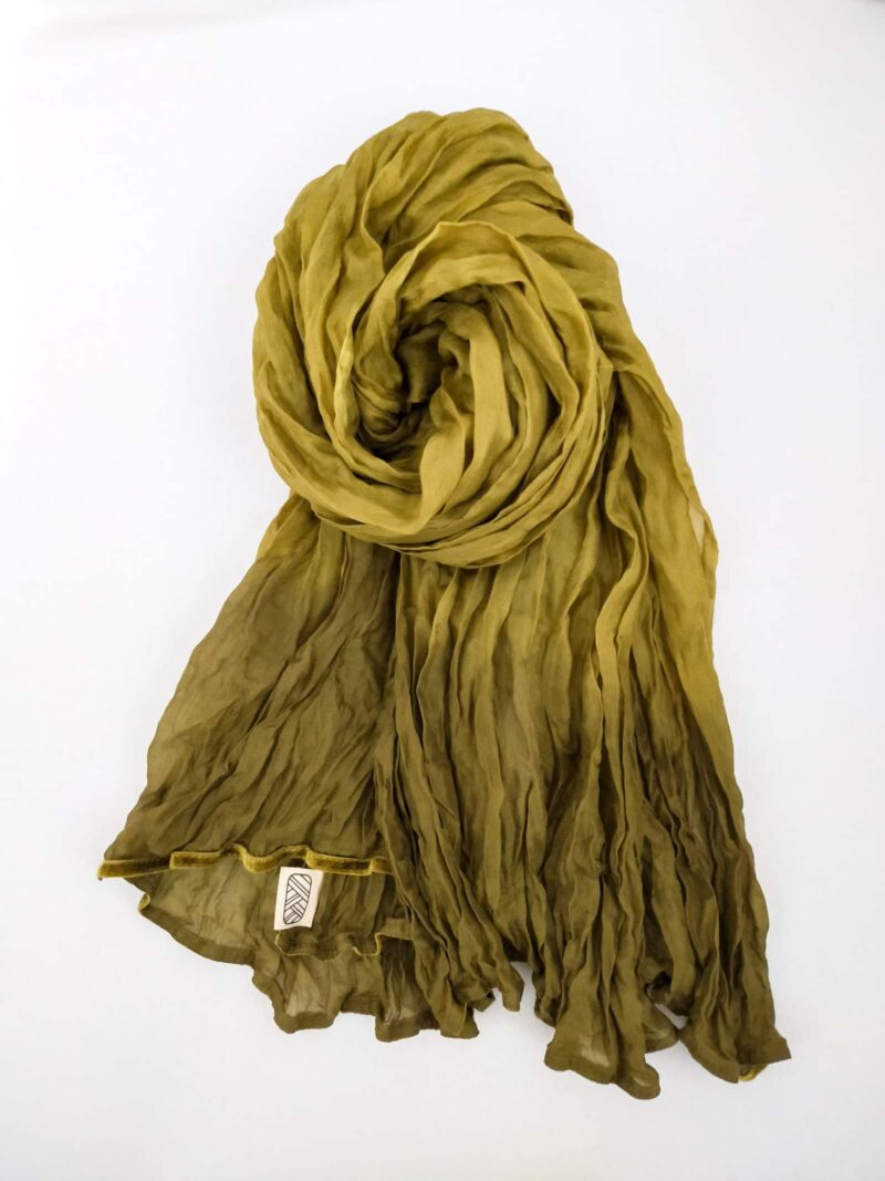 Foulard en soie organza vert