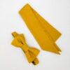 Noeud papillon équitable en soie et mini foulard en soie jaune
