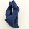 Noeud papillon équitable en soie bleu